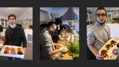 I Nivå er drengene i køkkenet og eksperimenterer med smagfulde donuts i Composé